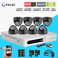 8ch Video Surveillance System 8 Channel Night Vision Security Cameras System AHD 960H CCTV Dvr Nvr