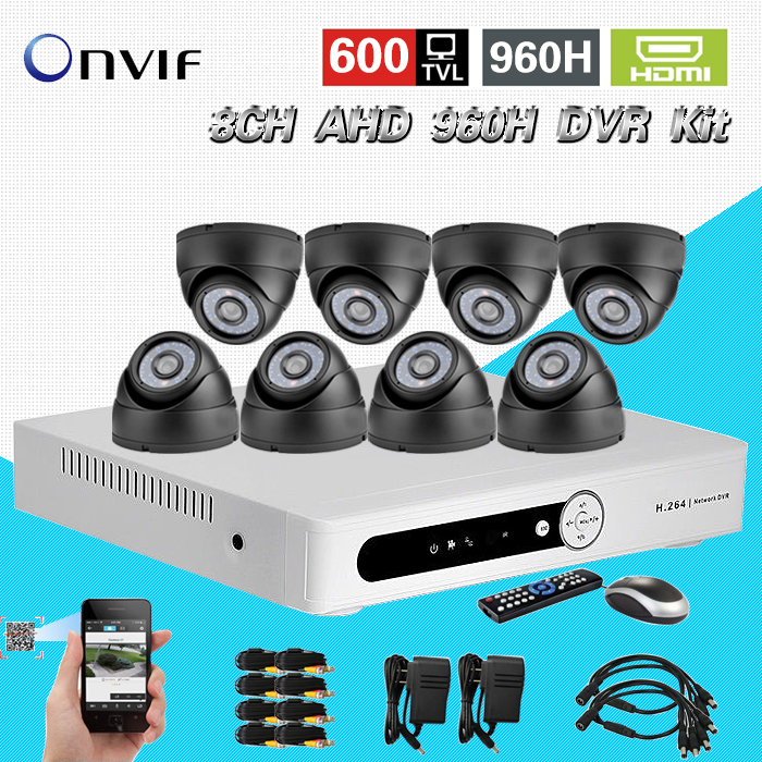 TEATE 8ch video surveillance system 8 channel night vision Security Camera system AHD 960H CCTV dvr nvr recorder kit CK-192 cctv camera dvr system ahd 720p kit optional 2 3 4 channel cctv dvr hvr nvr 3 in 1 video recorder infrared dome camera security