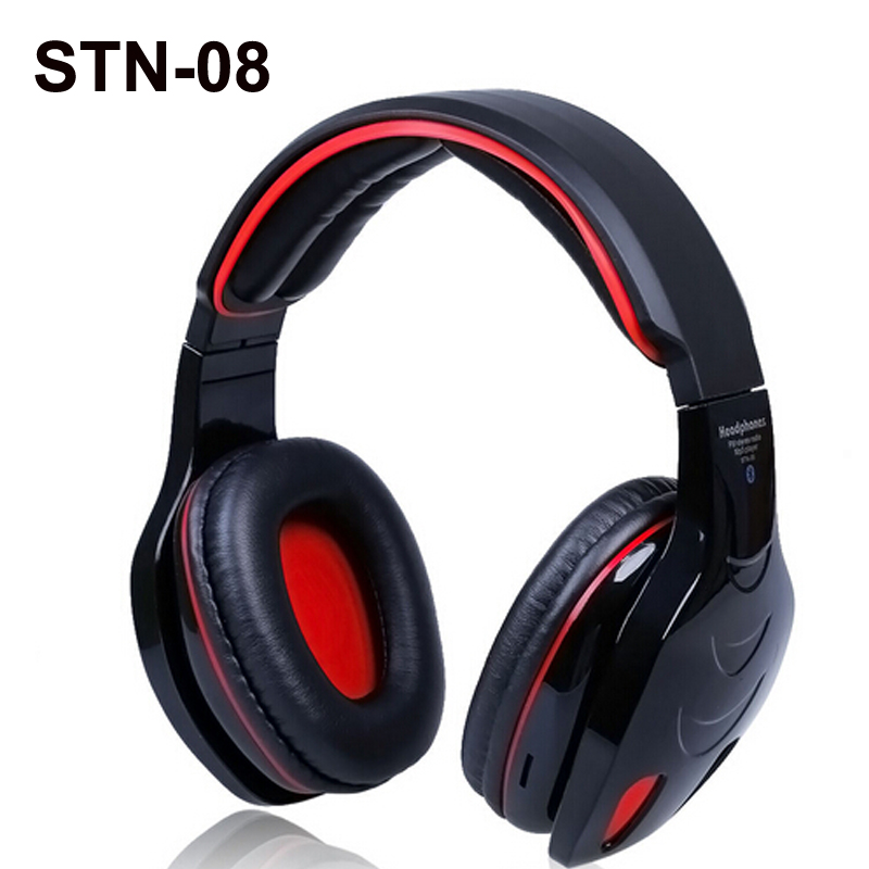 New Stereo Headset Wireless Bluetooth Headset EDR Headphones hands-free Bass Mic Micro SD/TF Slot MP3 Player FM Radio hands free hifi stereo bluetooth 4 0 headset headphone with mp3 player micro sd fm radio function headhand headset for phone