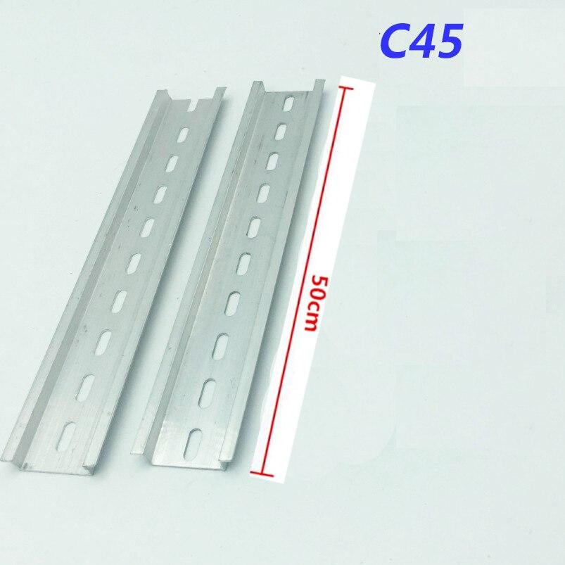 Алюминий 35 мм x 7,5 мм C45 DZ47 клеммные колодки для din-рейки аксессуары - Цвет: 50cm