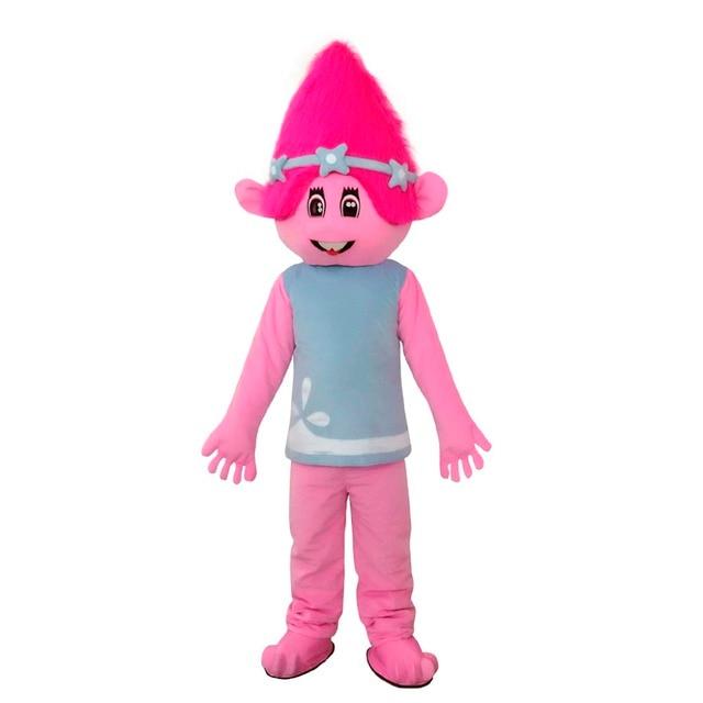 Custom Made Trolls Mascot Movie Cartoon Bobby Blanche Parade Plush Mascot Christmas Birthday Gift Mascot Costume L0516