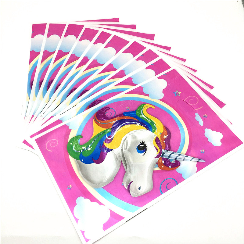Unicorn Disposable Paper Cup Palte Tablecloth Family Party Celebration Kids Birthday Party Decoration Event Supply 63Pcs/Lot