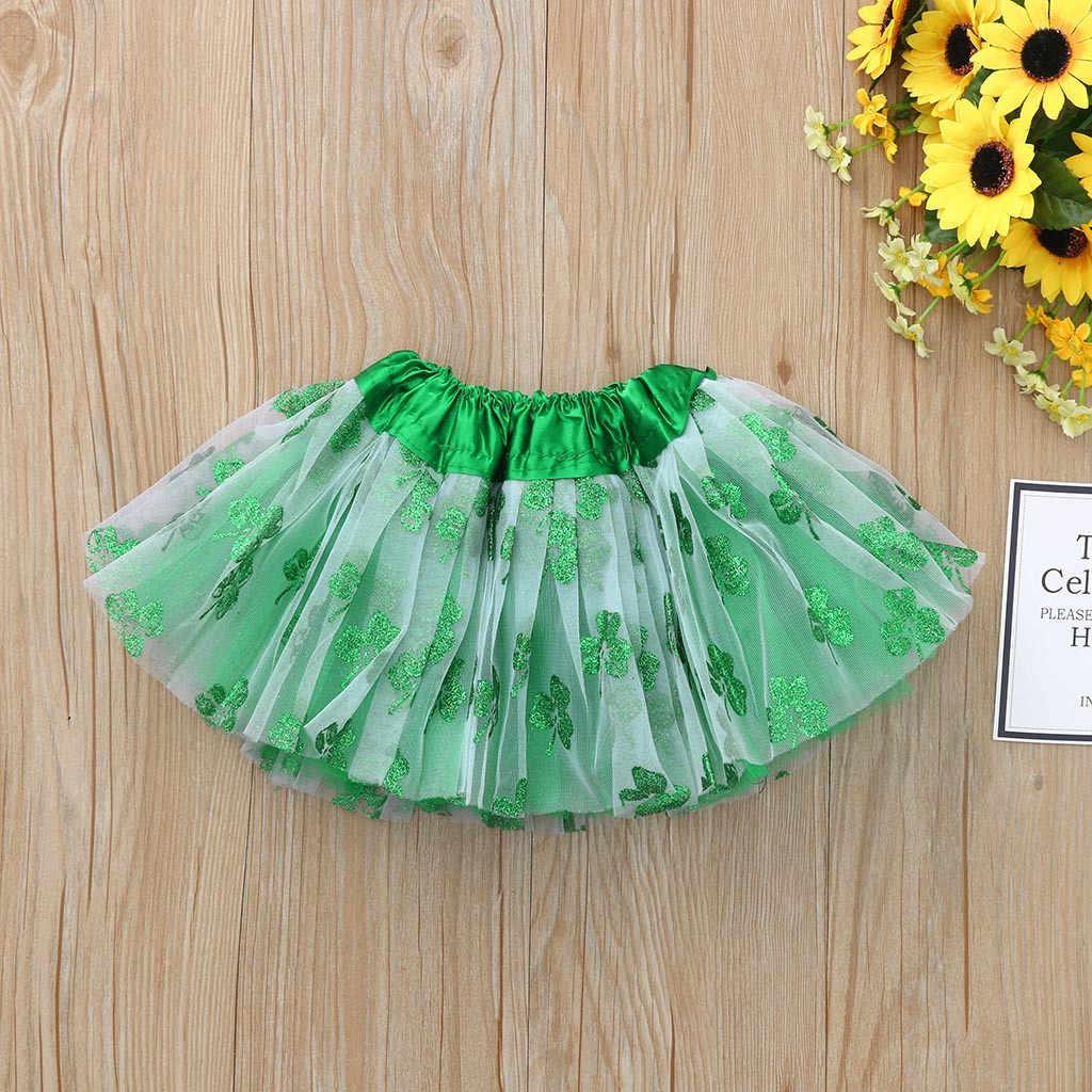 Niños niño bebé niña princesa vestido de bebé niñas niños Fiesta St falda de baile de día de Patrick tutú Ballet Bling disfraz