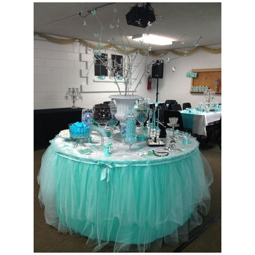 Tiffany Blue Wedding Decoration Ideas: 2200 X 15cm Tiffany Blue Theme Organza Sheer Tulle Roll