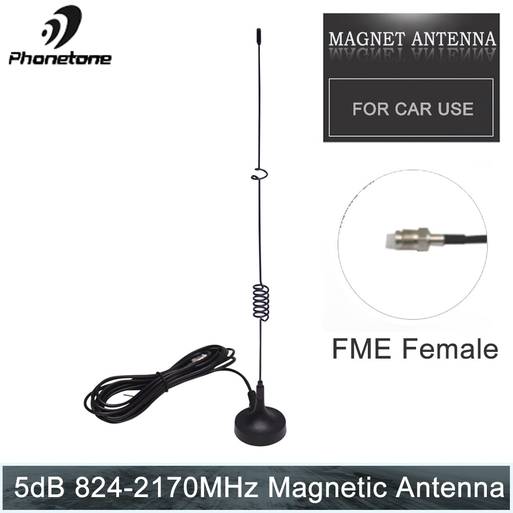 Magnetic Antenna Signal 5dBi GSM Outdoor Magnet Antenna 824-2170MHz For Car Signal Booster With 3m RG174 FME Female Connector