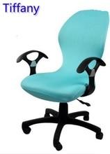 Tiffany color lycra ajuste cubierta para silla de oficina con reposabrazos silla de la computadora silla del spandex cubierta decoración al por mayor