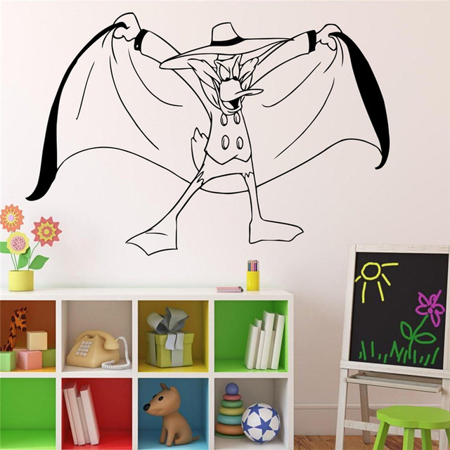 darkwing duck wall decal vinyl sticker duck superhero home decor wall art decor ideas interior design - Wall Sticker Design Ideas
