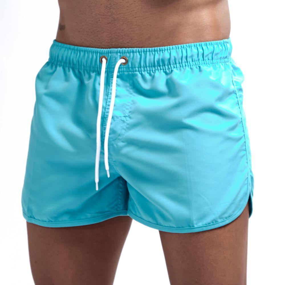 JOCKMAIL Brand 2019 New Men's Shorts Home Pants Smooth Beach Pants Slim Pants Shorts 14colors  M-2XL Summer Holiday Sport Shorts