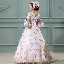Sale Pink Printing Princess Dress Victorian Party Dress /Cosplay Prom Dresses