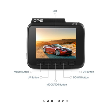 Cemicen 2.4 Inch FHD 4K 2160P Novatek 96660 Car DVR Dash Camera WiFi GPS Navigation Car Camera Dual Lens Dash Cam Loop Recording image