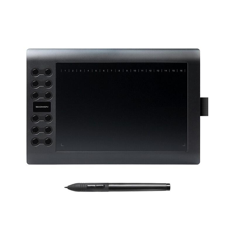 GAOMON M106K profesional 10 pulgadas tableta gráfica para dibujar con USB arte Digital Tablet 2048 niveles pluma