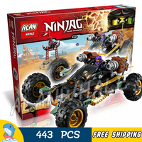 443pcs Ninja Road Rocker Off Stone Army Base Camp Vehicle 10524 Figure Building Blocks Children Toy Compatible With LegoING