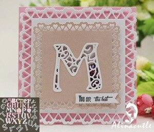 Image 2 - Металлическая высечка, алфавит 5 см, английская надпись, скрапбук, бумага ручной работы, карта happy mail, художественный резак alinacraft