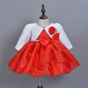 4e6c86452 2016 Nuevo 0-2 años bebé niñas vestido de bautizo vestidos infantiles  princesa boda Vestido de encaje para bebé recién nacido