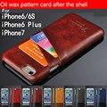 Estilo de negócios de luxo de couro tampa do caso para a apple iphone6 6 splus moda sacos de telefone titular do cartão carteira funda para iphone 6 além de