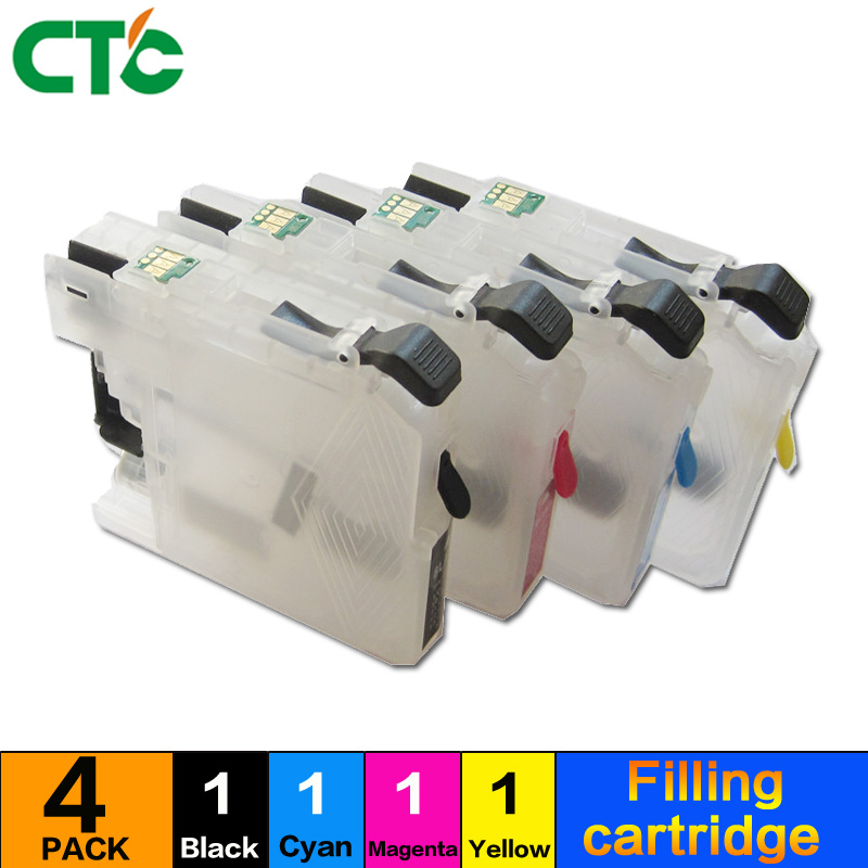 LC123 Refillable Ink Cartridge for Brother MFC-J4410DW J4510DW J4610DW J4710DW J6520DW J470DW J6720DW J6920DW Inkjet Printer