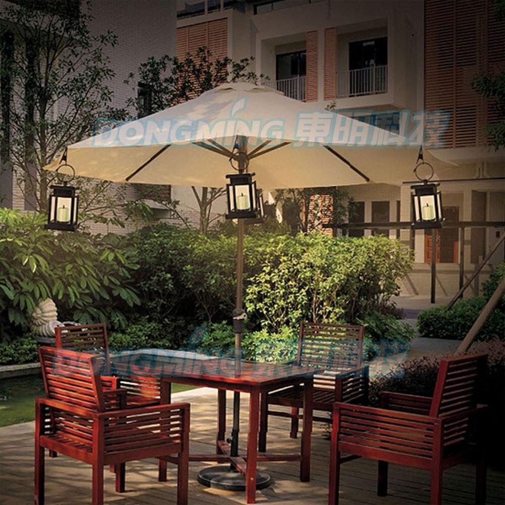 Vintage outdoor solar led light Umbrella yard garden decoration ...