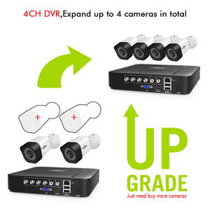 Image 2 - Hiseeu 4CH Video Surveillance Kit CCTV Camera Security system Outdoor 2PCS 2MP 1MP Waterproof AHD System App View Support HDD