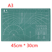 A3 PVC Rectangle Grid Lines Self Healing Cutting Mat Tool Fabric Leather Paper Craft DIY Tools