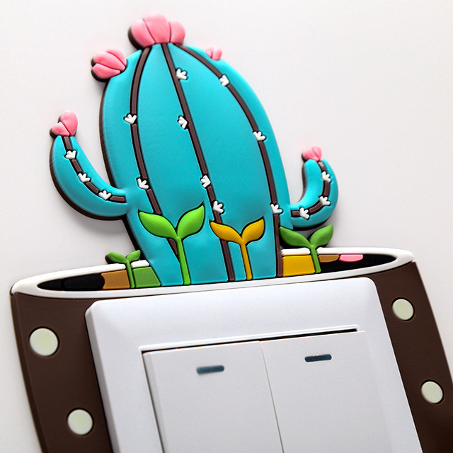 Luminous Cactus Switch Wall Stickers 6