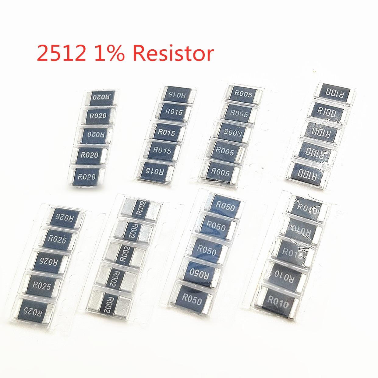 Оригинальные прецизионные резисторы из сплава 50 шт./лот SMD 2512 0,008r 8 mOhm R008 1%