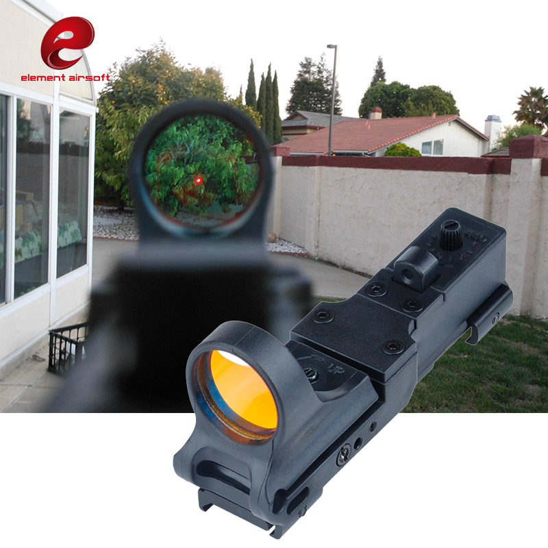 Element SeeMore Railway Reflex C-MORE Red Dot Optics Rifle Sight Tactical Hunting Accessories Wargame for 20mm Rails Mount