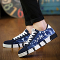 Space Graffiti Canvas Shoes For Men 2016 Fall Flats Platform Lace Low Cut Breathable Comfortable Male Shoes Zapatillas Hombre