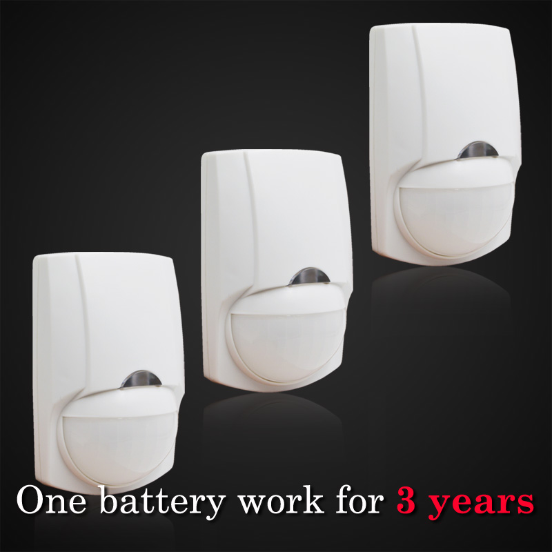 Wireless Passiive Infrared Motion Detector, Sensor Alarm, 1 pieces RC-123A battery can work 3 years for this detector ...