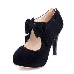 Size big 34 43 new 2016 fashion platform high heels women pumps spring summer autumn bowtie.jpg 250x250