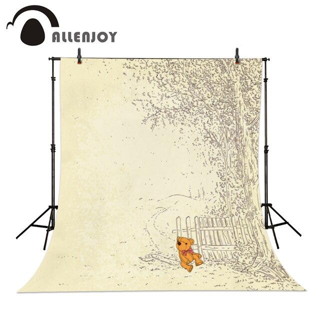 Hintergrund Fur Foto Stoff Vinyl Bar Zaun Cartoon Baum Fotografie