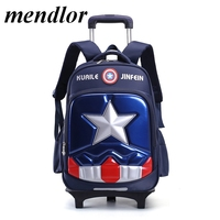 High Quality Triple Wheels Children's School Bag Detachable Backpack Fashion Trolley Kids Backpacks Children trolley School Bag