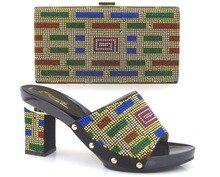 2015รองเท้าและกระเป๋าผู้หญิงการออกแบบใหม่และร้อนขายอิตาลีจับคู่รองเท้าและเต็มแผ้วหินMVZ1-17