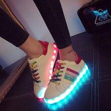 fashion White Led shoes for adults led light shoes woman canvas shoes women casual shoes led luminous led shoes