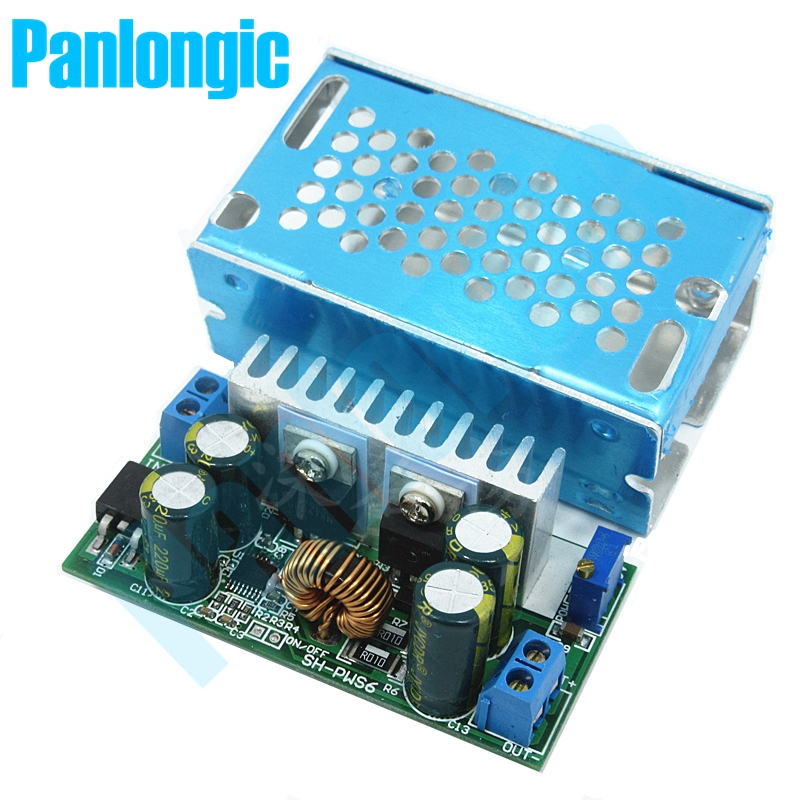 Panlongic DC/DC Converter Regulator Adjustable Buck High Efficiency 48V 36V Turn 24 19 15 12 9 5 3V Power Module 15A ams1117 3 3v power supply ic buck ic linear regulator sot 223 black 10pcs