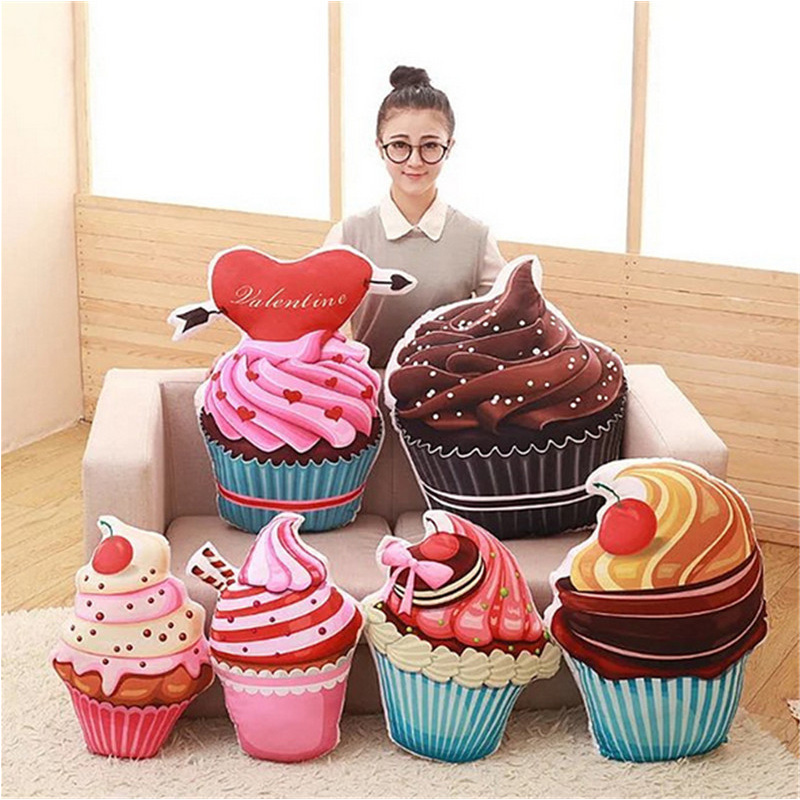 Go Shopping For Best Price Fancytrader Sweet Ice Cream Cake Plush Toys Big 3D Birthday Pillow Cushion 70cm 28inch 6 Models Available