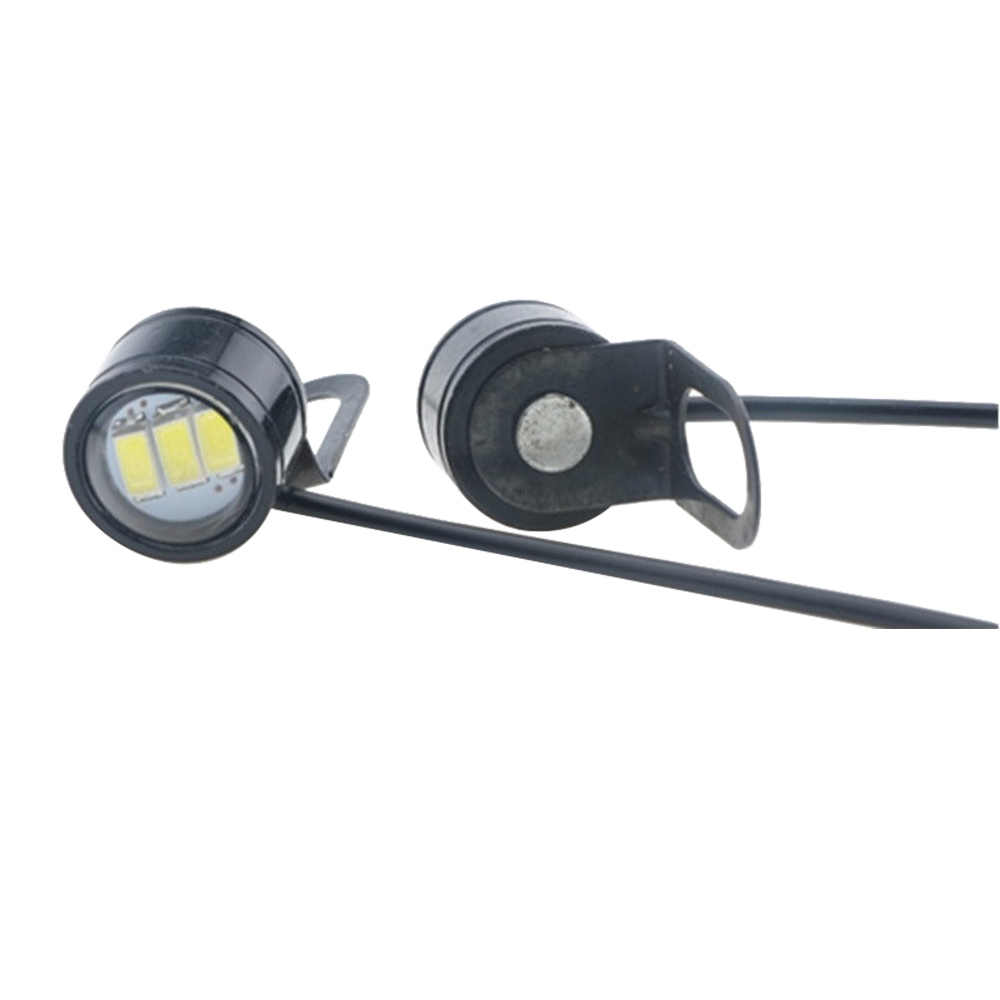 1 paar LED Strobe Hawkeye DRL Schwanz Licht Backup Lampe Motorrad Spiegel Montieren Eagle Eye Lauf Lampe Hohe qualität Heißer verkauf