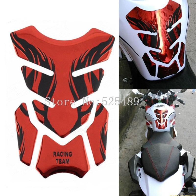 4 Couleur Marque 3D Moto Réservoir de Carburant Stickers Pad Protecteur Couverture autocollants Pour Honda CBR Yamaha R1 R6 Kawasaki Suzuki KTM Benelli