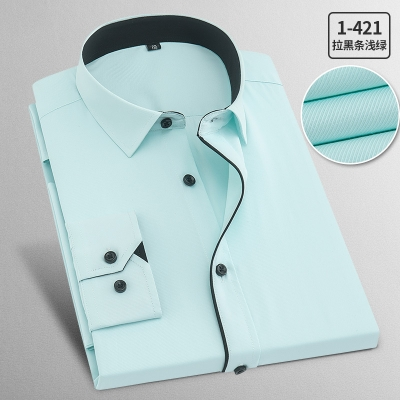 DropShipping Plus Size Spring Summer Men Business Leisure Long Sleeve Shirts Young Professional White Casual Shirt Oversize 9XL