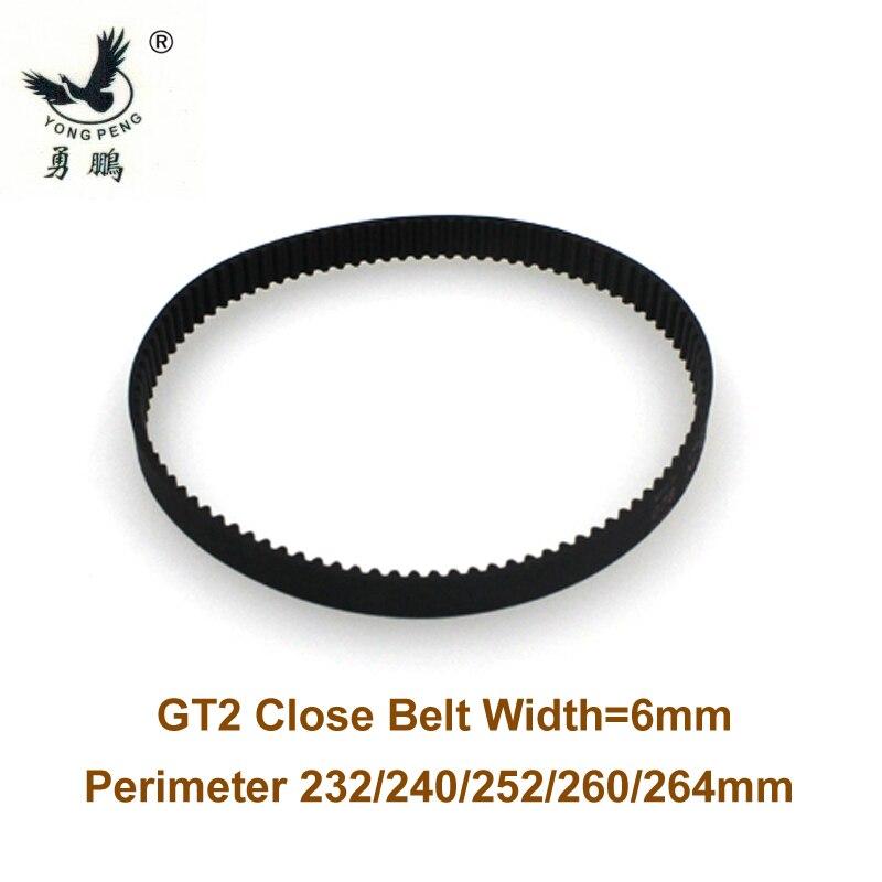 50 pcs GT2 timing belt Perimeter length 232m width 6mm Teeth 116  closed loop 2GT synchronous belt 232-GT2 3D printer