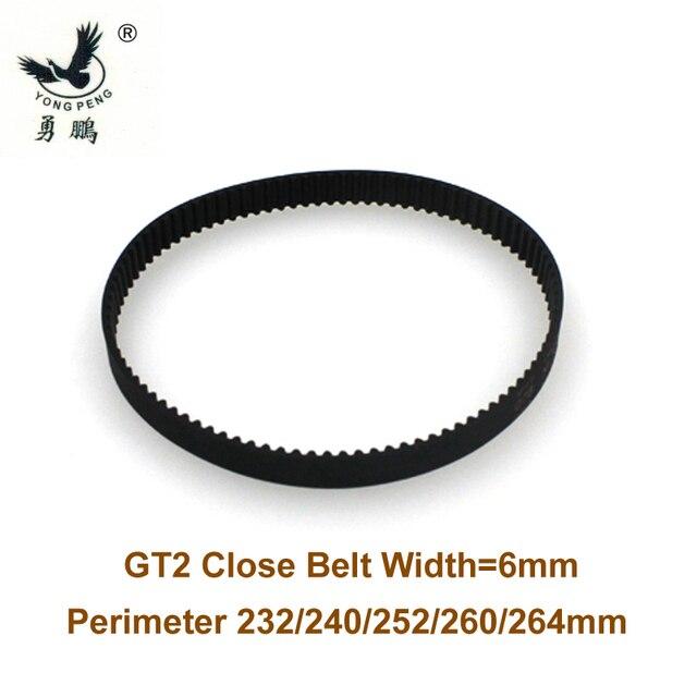 50 piezas GT2 Correa perímetro de 232 m de longitud ancho 6mm dientes 116 de bucle cerrado 2GT correa síncrona de 232-GT2 3D impresora