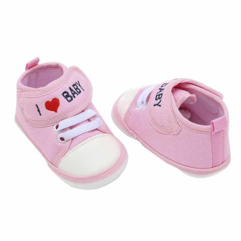 Scarpe per Bambini Del Bambino Toddle Scarpe Bambino scarpe Da Tennis di Sport 2018 Nuovo Neonato Lettera di Tela Stampata Casual Scarpe 0-18 m Calda