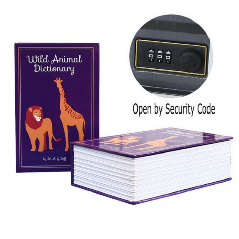 Passwod Safe Box Book Money Hidden Secret Security Safe Lock Cash Money Storage Jewellery Key Locker For Kid Gift