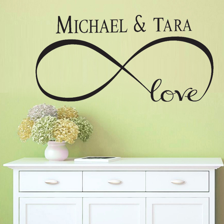 Custom Personalized Infinity Symbol Bedroom DIY Love Quotes Painting ...