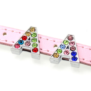 Image 5 - 1300 unids/lote 8mm letras deslizantes de diamantes de imitación coloridas ajuste 8mm DIY pulsera joyería LSSL015