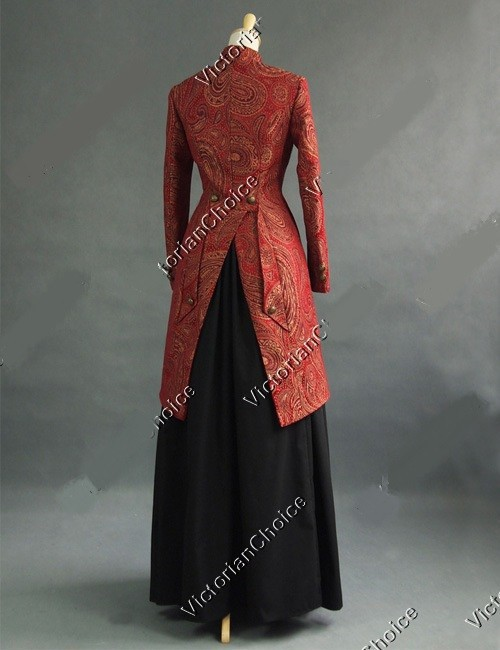 Reconstitution Color Robe Victorienne Ouest Made édouardiens Custom Veste Dress Vieux Dames 7vAznq
