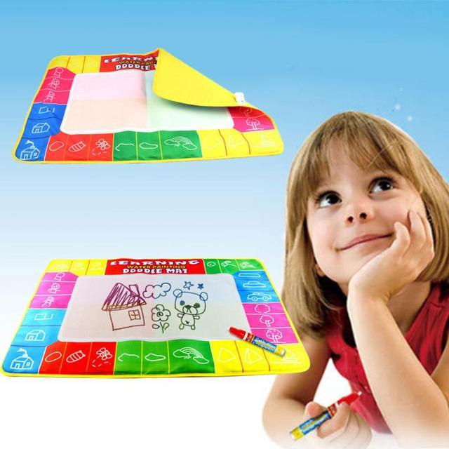 """Coolplay  Big Size Baby Water Doodle Mat with 1 Magic Pen Drawing Toys Mat Aquadoodle For creating Children""""s Imagination"""