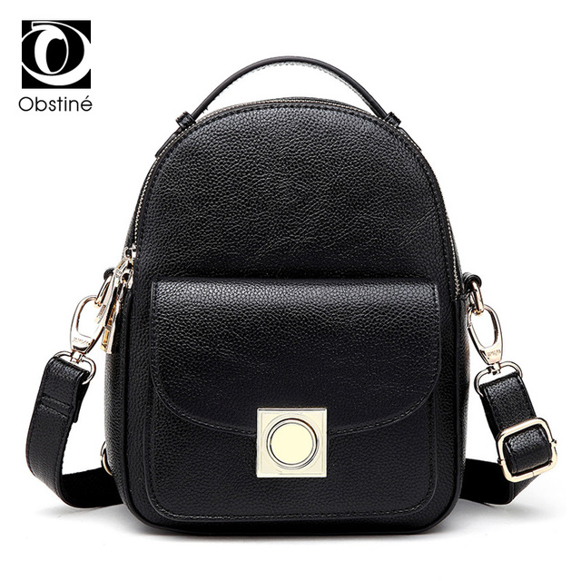 small backpack for girls pu leather daypack women mini back pack bag black cute  women s backpacks 1a9fad4c2e4bf