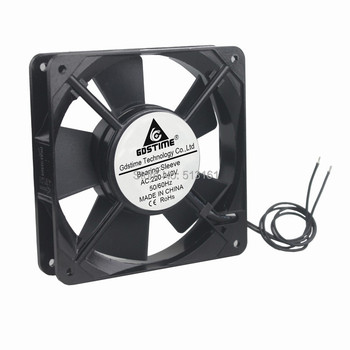 Wholesale 100pcs Gdstime 220V 240V 12CM 120MM 120X120X25MM  Sleeve Bearing AC Cooling Cooler Fan