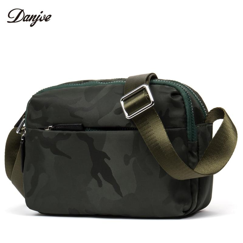 DANJUE Man Messenger Bag Waterproof Oxford Military Style Shoulder Bag Camouflage Mini Daily Bag Male Zipper Business Trendy Bag фонарь maglite mini camouflage m2a026e