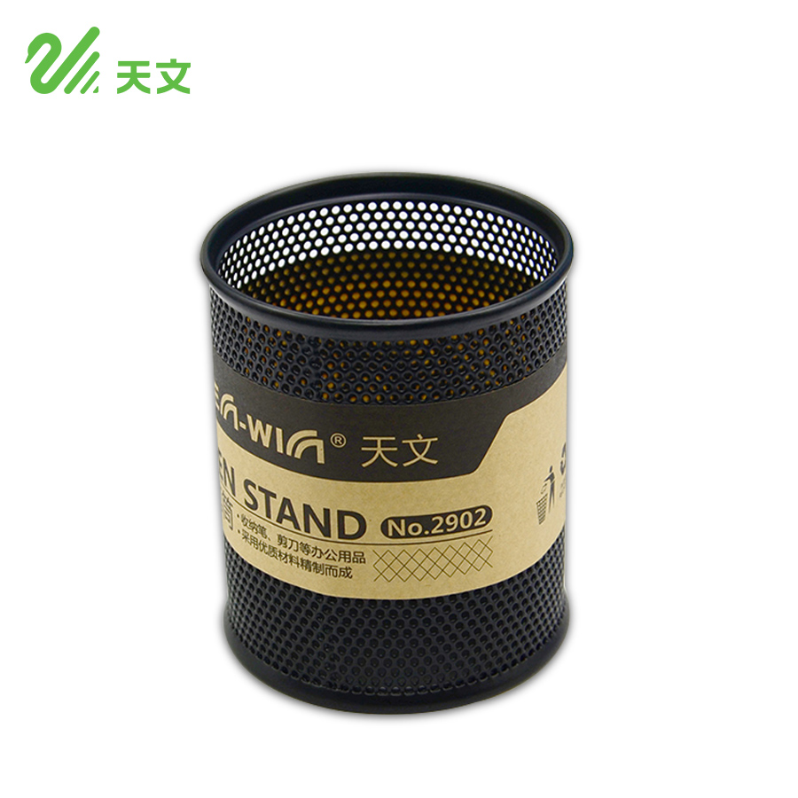 popular modern pencil holderbuy cheap modern pencil holder lots  - tenwin black metal pen holder fashion pencil pen container round containers stationery for office(